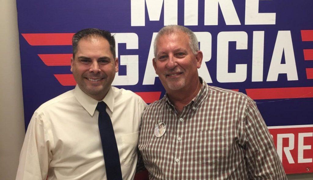 Steve Petzold & U.S. Congressional Candidate Mike Garcia (Source: Facebook.com)